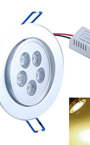 SENCART 5 W 5PCS COB 500-550 LM Warm White Recessed Retrofit Decorative Ceiling Lights AC 85-265 V
