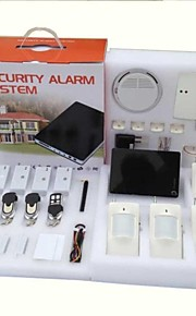 h1ck grote smartphone draadloos bedraad inbreker gsm home security alarm systeem met PIR deur sensor sirene