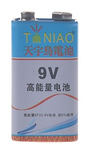 tianniao 9v zink -manganese koolstof batterij (1st)