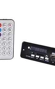 """1.0 """"førte bil mp3-afspiller modul m / FM / USB / mini USB / SD / fjernbetjening (sort)"""