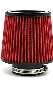 "tirol rojo entrada de aire frío diámetro de filtro ""tubo de entrada universal de 3 cónica redonda material de la PU"