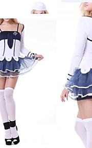 biały kotwica słodkie i atrament niebieski mundur marynarza dziewczyna