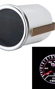 "auto motor universele smoke lens 2 ""52mm 40-150 ° c indicator olie temp gauge witte led tempreture meter"