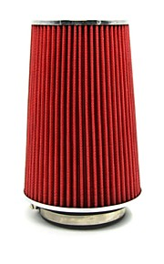 "filtros de aire adaptador de embudo tirol auto universal de entrada de aire frío alto flujo 3 ""dual funciona para 76-89-101mm cónica redonda"