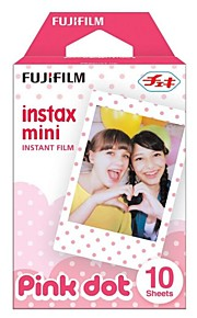Fujifilm Instax mini øjeblikkelig farvefilm - pink dot