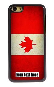 gepersonaliseerd geval Canadese vlag ontwerp metalen behuizing voor de iPhone 5c