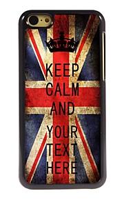 gepersonaliseerd geval Britse vlag houdt kalm ontwerp metalen behuizing voor de iPhone 5c