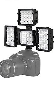 4 *-48u leidde videolamp fotografie voor canon 7d 6d 5diii Nikon D600 D800 D3100 D7000 DSLR camera licht dv
