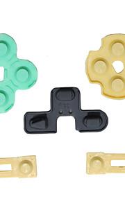 10 x ledende gummi kontakt pad knap d-pad til Sony ps2 controller