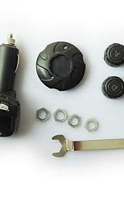 bil dæktryk overvågningssystem transmitter sensor trådløse TPMS lcd cigarettænder kompressor