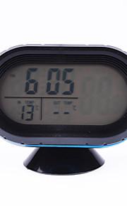 12v bil lcd digital termometer bil voltmeter monitor alarm