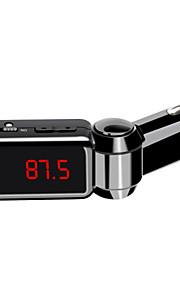 bc06 Bluetooth håndfri Dual USB bil oplader u disk aux FM transmitter mp3-afspiller