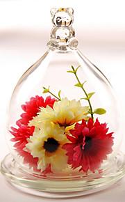 tabellen center glass hage tema glassdekselet bord deocrations (planter ikke inkludert)