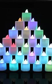 1 pcs couleur changeante LED multicolore bougies chauffe-plat lumière de batterie pour le mariage décoration de fête d'anniversaire