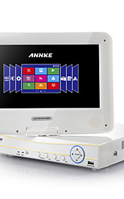 ANNKE® 4*960H 10.1 LCD monitor H.264 HDMI DVR/NVR/HVR all in one System-Remote View P2P(NO HDD)