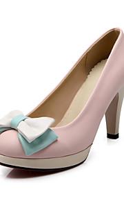 Women's Shoes Cone Heel Comfort / Round Toe Heels Wedding / Office & Career / Dress Blue / Pink / White / Beige