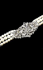 Pulseras y Brazaletes Encanto Plata/Aleación Diamante/Cristal Pareja/De mujeres