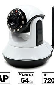 besteye® HD720p h.264 p2p wifi ip camera 1.0m pixels PTZ ir nachtzicht bedrade / wirless 64GB TF-kaart