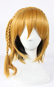 Angelaicos Women Kagerou Project KISARAGI MOMO Medium Braids Blonde Lolita Halloween Costume Cosplay Party Bob Wig