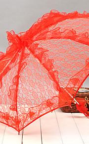מטריות חתונה ( תחרה ) - מתכת/תחרה - תחרה