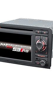 2 din auto dvd-speler autoradio 6.2inch WinCE 6.0 voor a3 met 1.2g cpu GPS-kaart ondersteuning lossess muziek 1080p