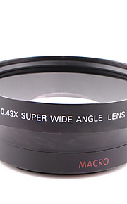 62MM 0.43X Wide Angle Lens Attached General Purpose for Canon Nikon Caliber 62MM Camera Can Be Used