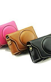 dengpin beschermende afneembare leren camera case tas hoes met schouderband voor Casio EX-zr3500 (verschillende kleuren)