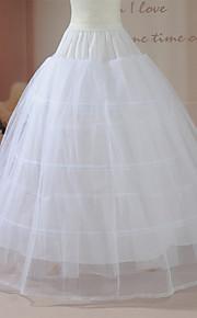 Déshabillés ( Nylon/Filet de tulle , Blanc ) - Robe de soirée longue - 2 - 102cm