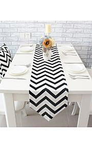 """современный стиль высокого качества волны хлопок печати бегун стол (12 """"x63"""")"""