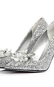 Femme-Mariage Habillé Soirée & Evénement-Argent-Talon Aiguille-Flower Girl Chaussures club de Chaussures-Chaussures à Talons-Paillette