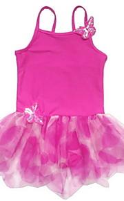 Ballet Dresses Children's Training Spandex / Polyester Appliques / Pleated 1 Piece Fuchsia / Green / Orange / Red /blue
