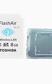 TOSHIBA  8GB Class10 FlashAir Wifi SDHC Memory Card  And The Memory Card Box