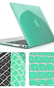 effen kleur nieuwste kristal full body case met toetsenbord hoes voor MacBook Air 11,6 inch (verschillende kleuren)
