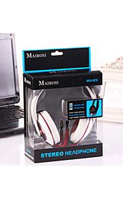 m0-123 head-monteret stereo headset med mark
