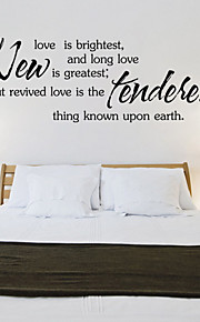 Wall Stickers Wall Decals , New Love English Proverbs  PVC Wall Stickers
