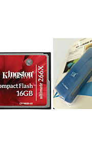 Kingston CF/16GB-U2 Ultimate Compact Flash Memory Card (16GB / Class 151~266X) And CF Card Reader