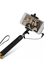 270 graden draaien selfie stick voor 3.5-aansluiting telefoon (assorti kleur)