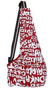 Red High-class Colorful Durable Oxford Cloth Sling Pet Carrier Cat Dog Tote Single Shoulder Bag 3 Size