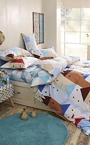 adorável cidade cartoon / cidade conjunto de cama de design de 4pcs queen / twin set para as crianças