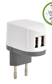 CE Certified Dual USB Wall Charger, Europe Plug,5V 2..4A output, for iPhone 5 iPhone 6/Plus, iPad Air, iPad Mini, iPad4