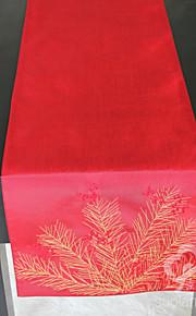 пихта филиала вышивка Искусственный шелк таблица бегуна украшение стола