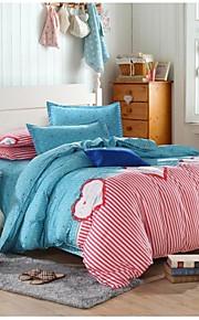 linda rosa / azul cama conjunto de 4pcs queen / twin size menina primeira escolha