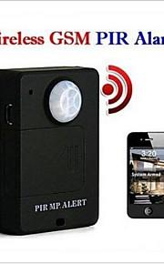 mini trådløs pir infrarød sensor bevægelsessensor gsm tyverialarm tyverisikring