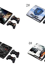 дизайнер кожа для Play Station PS3 Slim системы& Пульты дистанционного управления