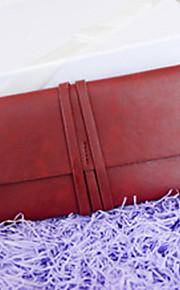 Women 's PU Casual Clutch Tote - Beige/Pink/Blue/Red/Black