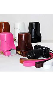dengpin pu lederen afneembare camera case tas hoes met schouderband voor Canon EOS m3 eos-m3 (verschillende kleuren)