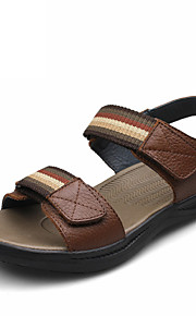 Men's Shoes Casual Leather Sandals Brown