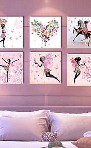 ensemble de 6 toiles tendues art fée des fleurs