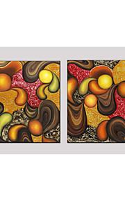 oljemålning set om 2 abstrakt stil, dukmaterial med sträckt ram redo att hänga storlek: 70 * 70cm * 2st.