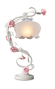 Rural  European Ornamental Flowers And Plants of Bedroom The Top of A Bed Lamp Roses Lamp